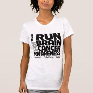Corro para la conciencia del cáncer de cerebro t shirts
