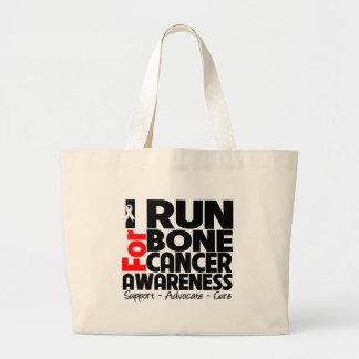 Corro para la conciencia del cáncer de hueso bolsa tela grande