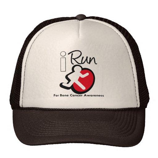 Corro para la conciencia del cáncer de hueso gorro