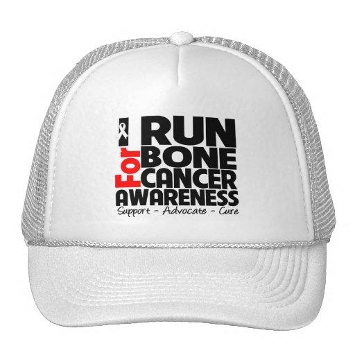 Corro para la conciencia del cáncer de hueso gorra