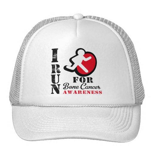 Corro para la conciencia del cáncer de hueso gorras de camionero