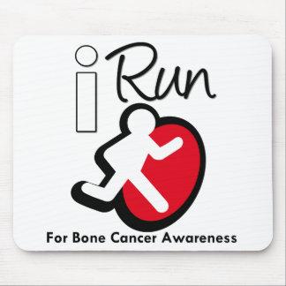 Corro para la conciencia del cáncer de hueso alfombrillas de ratones