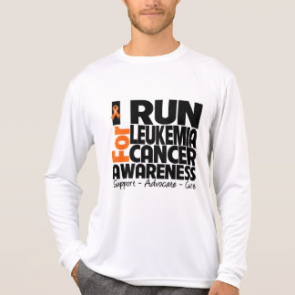 Corro para la conciencia del cáncer de la leucemia camisetas