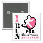 Corro para la conciencia del cáncer de pecho pin