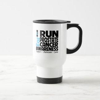 Corro para la conciencia del cáncer de próstata tazas