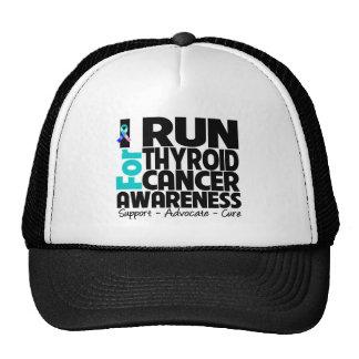 Corro para la conciencia del cáncer de tiroides gorras
