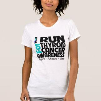 Corro para la conciencia del cáncer de tiroides camisetas