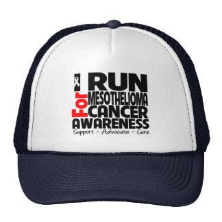 Corro para la conciencia del cáncer del mesoteliom gorra