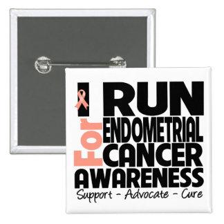 Corro para la conciencia del cáncer endometrial pin