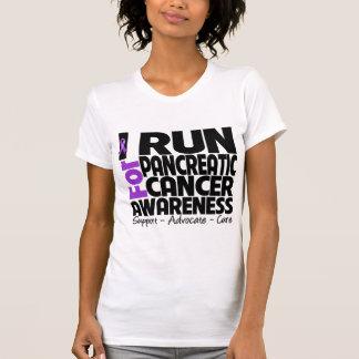 Corro para la conciencia del cáncer pancreático tshirt