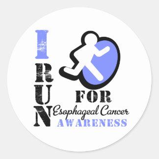 Corro para la conciencia del esófago del cáncer pegatina redonda