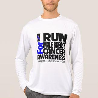 Corro para la conciencia masculina del cáncer de p camisetas