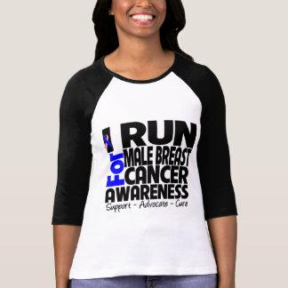 Corro para la conciencia masculina del cáncer de p camiseta