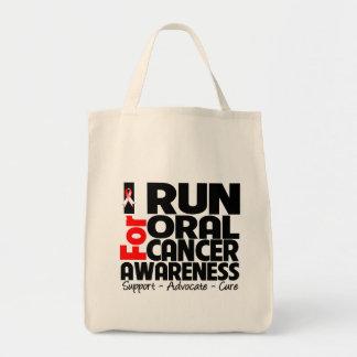 Corro para la conciencia oral del cáncer bolsa tela para la compra