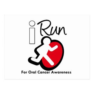 Corro para la conciencia oral del cáncer postal