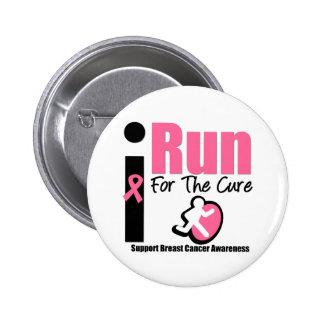 Corro para los regalos de la conciencia del cáncer pin redondo 5 cm