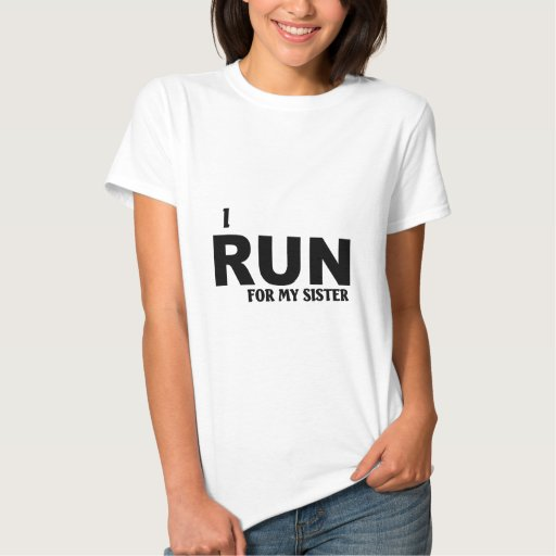 Corro para mi hermana camisetas