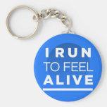 Corro para sentir VIVO - inspiración de funcionami Llavero