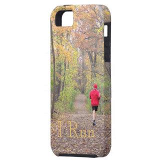 """""""CORRO"""" (PHOTOG. PERSONA QUE CORRE EN MADERAS EN C iPhone 5 PROTECTOR"""