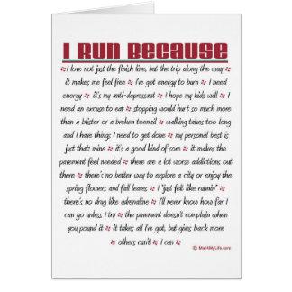 Corro porque - buena suerte tarjetas