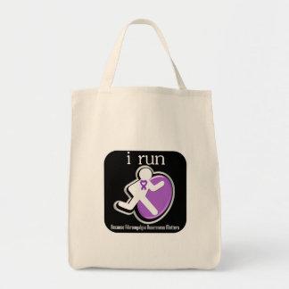 corro porque importa el Fibromyalgia Bolsa Lienzo
