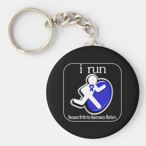 corro porque importa la conciencia de la artritis llavero personalizado