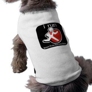 corro porque importa la conciencia del movimiento playera sin mangas para perro