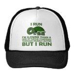 Corro. Soy más lento que una tortuga pero corro Gorras De Camionero