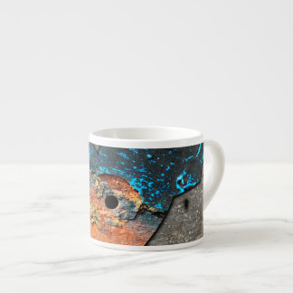 Corroded Heart Pattern Espresso Cup