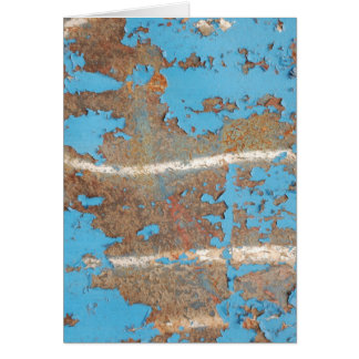 Corroded-metal1617 BLUE RUST TEXTURES METALS SHINY Greeting Card