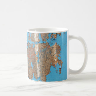 Corroded-metal1617 BLUE RUST TEXTURES METALS SHINY Coffee Mug