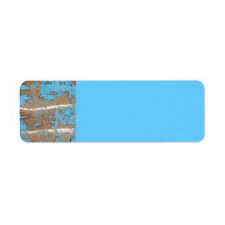 Corroded-metal1617 BLUE RUST TEXTURES METALS SHINY Return Address Labels