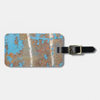 Corroded-metal1617 BLUE RUST TEXTURES METALS SHINY Luggage Tag