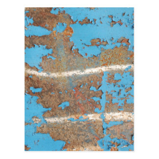 Corroded-metal1617 BLUE RUST TEXTURES METALS SHINY Post Cards