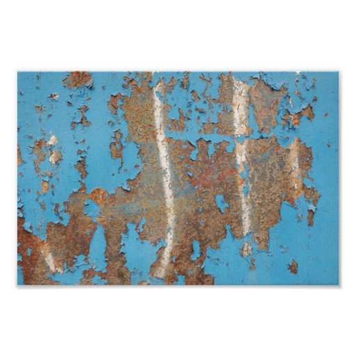 Corroded-metal1617 BLUE RUST TEXTURES METALS SHINY Poster