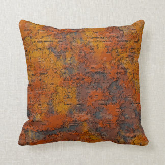 Corroded Rusty Iron Throw Pillow