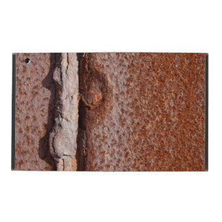 Corroded rusty metal texture iPad covers