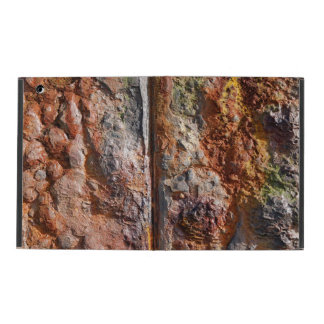 Corroded rusty metal texture iPad folio cases