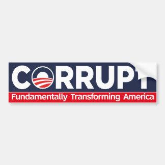 Corrompa - América fundamental de transformación Pegatina Para Auto