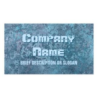 Corrosion blue print description business card templates