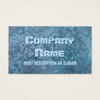 Corrosion blue print 'description' business card