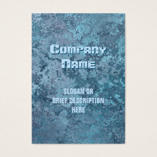 Corrosion blue print vertical chubby business card