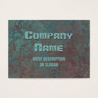 "Corrosion ""copper"" print 'description' chubby business card"
