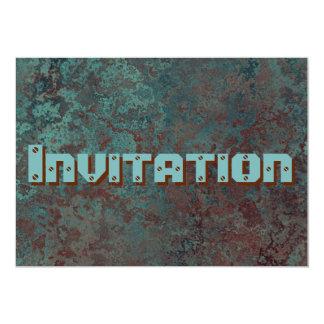 """Corrosion """"Copper"""" print invitation"""
