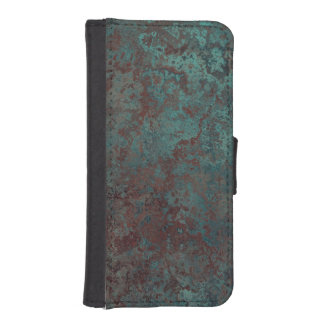 "Corrosion ""Copper"" print iPhone 5/5S wallet case"