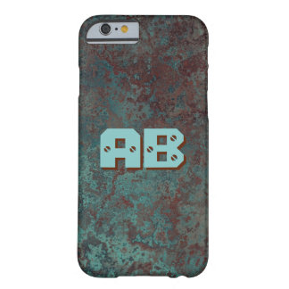 """Corrosion """"Copper"""" print Monogram iPhone 6/6S Barely There iPhone 6 Case"""