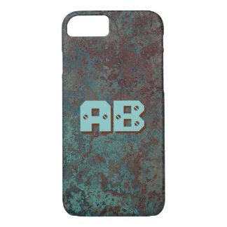 """Corrosion """"Copper"""" print Monogram iPhone 7 iPhone 8/7 Case"""