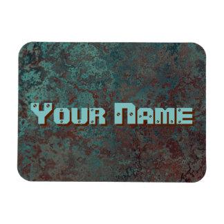 "Corrosion ""Copper"" print Name flexible Magnet"