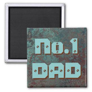 "Corrosion ""Copper"" print No.1 DAD fridge magnet"