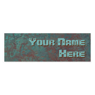 """Corrosion """"copper"""" print side text skinny Double-Sided mini business cards (Pack of 20)"""
